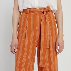FRANK & OAK Linen Striped Wide-Leg Pants -Size 6